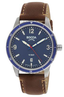 Boccia 3635-02 Titan Herrenuhr mit Saphirglas