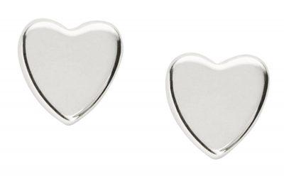 JFS00379 Sterling Heart Ohrringe