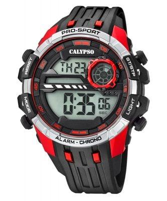 Calypso K5729/4 Digital-Chronograph Herrenuhr Schwarz/Rot