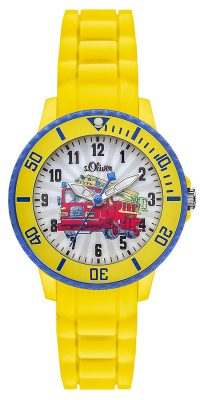 s.Oliver SO-2982-PQ Kinder-Armbanduhr Feuerwehr