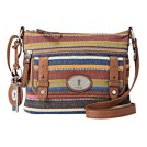 Fossil ZB4736 Maddox Top Zip Ladies Bag Stripe