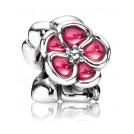 Pandora 790897EN07 Silber-Charm Blumen Rot