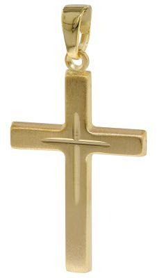 35752 Anhänger Gold-Kreuz