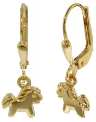 35807 Gold Kinder-Ohrringe Pony