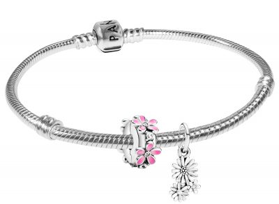 Pandora 75709 Silber-Armband Gänseblümchen-Strauß