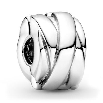 Pandora 799502C00 Silber Clip Charm Polierte Bänder