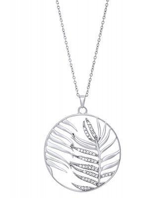 Julie Julsen JJNE0832.1 Damen-Halskette Palmenblatt Silber
