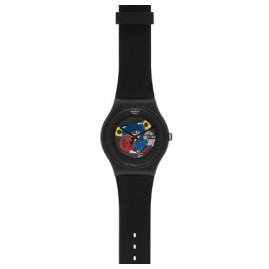 Swatch SUOB101 Black Lacquered Armbanduhr