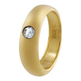 trendor 48689 Gold Taufring Zirkonia