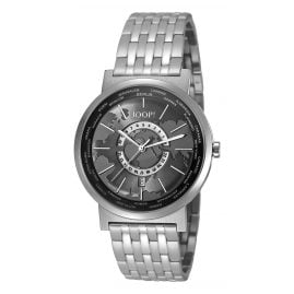 Joop JP101201F06 Origin World Timer Silver Mens Watch