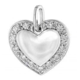 trendor 64413 Silber Anhänger Herz