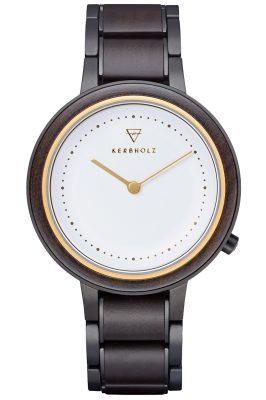 Kerbholz Damen-Armbanduhr Holzuhr Thea Sandelholz/Gold Thea-Sandalwood-Gold