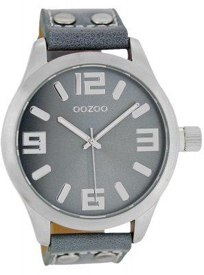 Oozoo C1060 Armbanduhr XL Blaugrau 46 mm