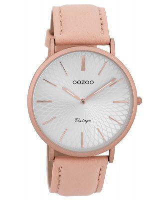 Oozoo C9336 Damenarmbanduhr Vintage Rosa/Silberfarben 40 mm