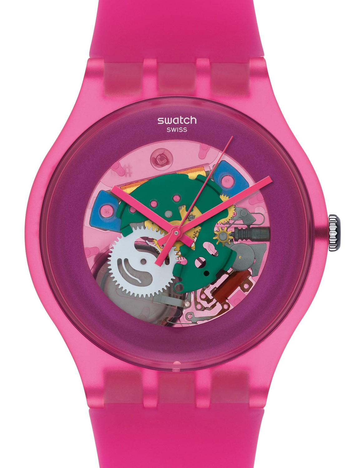 swatch ladies watches swatch suop100 pink lacquered ladies watch 2