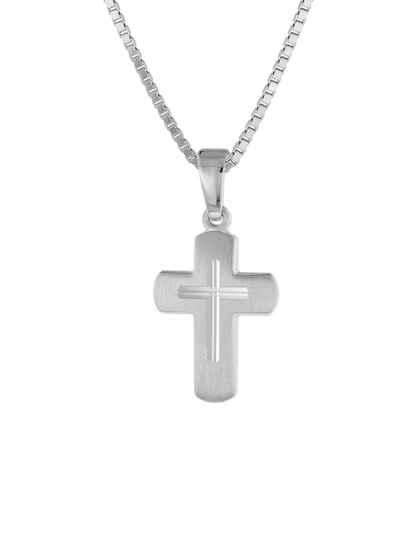 trendor 48887 Kinder-Anhänger Kreuz mit Kette Silber Preisvergleich