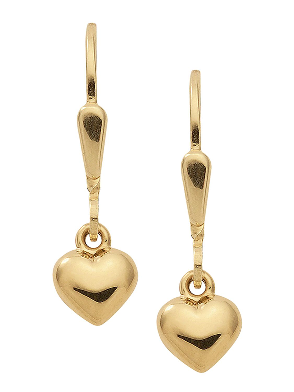 trendor 47330 Gold Ohrringe Herzchen
