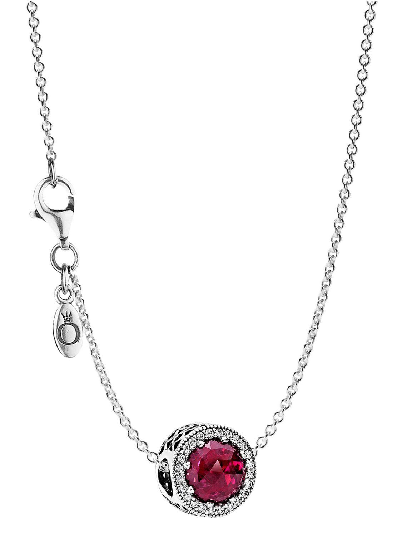 Pandora 08031 Halskette mit Anhänger Strahlenkranz der Herzen Rot - Preisvergleich