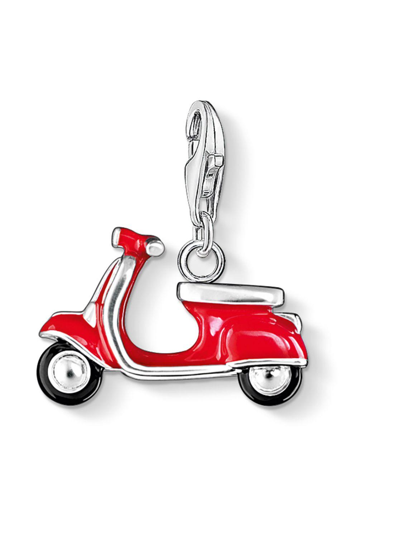 Thomas Sabo 0827-007-10 Charm-Anhänger Roter Ro...
