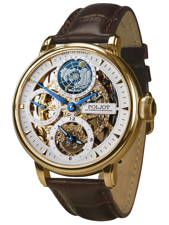 Poljot International 9730.2940651 Herren-Armbanduhr Double Timer Globetrotter