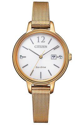 Citizen EW2447-89A Eco-Drive Solar Damen-Armbanduhr roségoldfarben