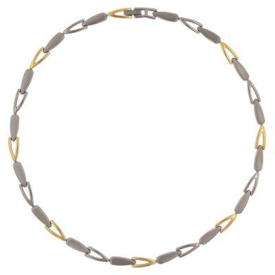 Boccia 08039-02 Titan Damen-Halskette Bicolor gold