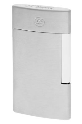 S.T. Dupont 027009E Elektrisches Feuerzeug E-Slim Chrom Gebürstet