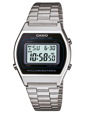 Casio B640WD-1AVEF Retro Digitale Armbanduhr