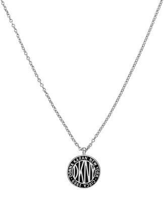 DKNY 5520025 Damen-Halskette Large Token Logo Pendant