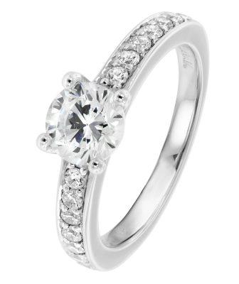 Viventy 764481 Verlobungsring Silber 925 Antragsring Zirkonia Damen-Ring