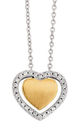 Viventy 781822 Silber Damen-Halskette mit Herz-Anhänger