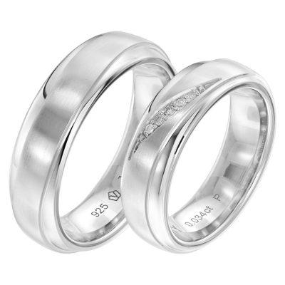 Viventy 8079 Verlobungsring Paar Silber 925 Diamanten