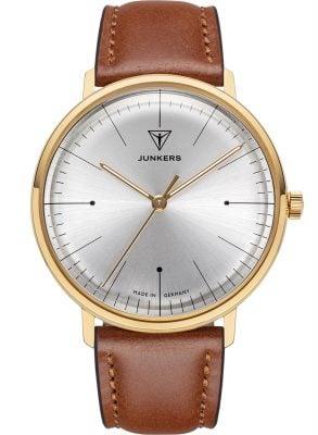 Junkers 9.07.01.03 Armbanduhr 100 Jahre Bauhaus Lederband Braun 38 mm