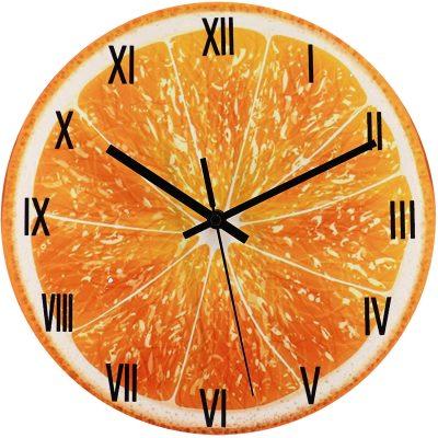 trendor 75873 Wanduhr Orange Ø 30 cm Quarz lautlos ohne Ticken
