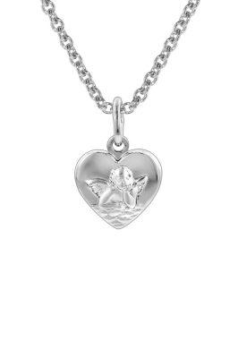 trendor 78858 Silberkette Herz-Anhänger mit Schutzengel für Kinder
