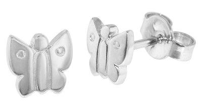 trendor 35830 Silber Kinder-Ohrringe Schmetterling