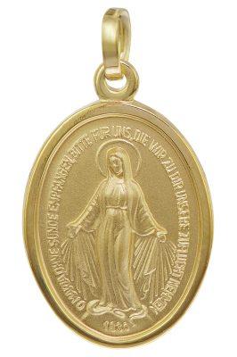 trendor 08611 Madonna Milagrosa Anhänger Gold 585