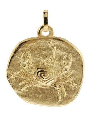 trendor 08988 Sternzeichen-Anhänger Krebs 333 Gold 20 mm