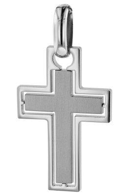 trendor 75076 Anhänger Kreuz für Männer Edelstahl 37 x 20 mm