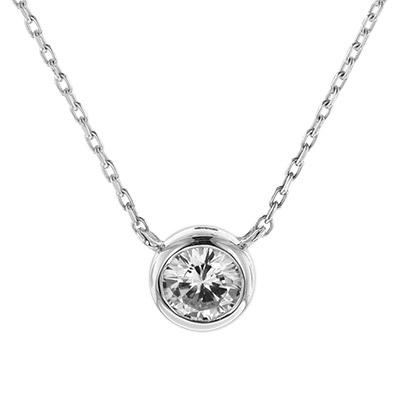 trendor 08854 Halskette Weißgold 585 Zirkonia