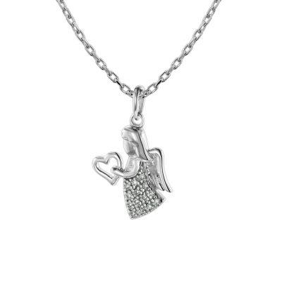 trendor 75471 Halskette mit Engel Weißgold 585 / 14K