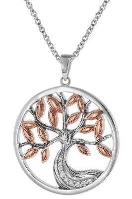 trendor 75512 Anhänger Lebensbaum + Halskette Silber 925