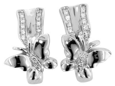 trendor 65090 Silber Ohrringe Schmetterling