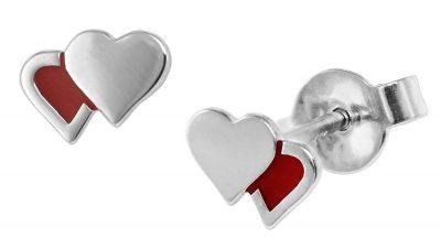 trendor 08533 Mädchen-Ohrringe Herzchen Silber