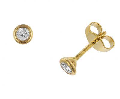 trendor 532644 Ohrringe Diamant 0,20 kt. Gold 585