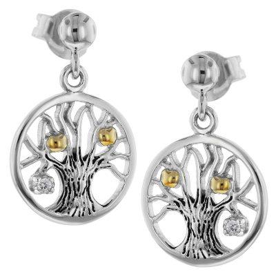 trendor 75502 Ohrringe Lebensbaum Silber 925