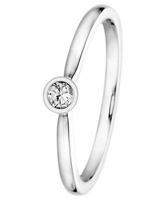trendor 532477 Verlobungsring 585 Weißgold mit Diamant