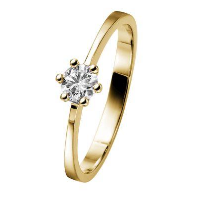 trendor 532476 Diamantring 585 Gold für Verlobung und Heiratsantrag