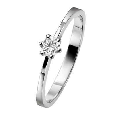 trendor 532453 Verlobungsring 585 Weißgold Brillant 0,10 Karat Heiratsantrag