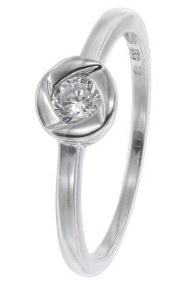 trendor 08709 Damering 333 Weißgold für Verlobung und Heiratsantrag